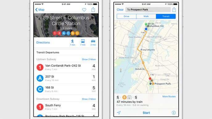 iOS 9 - Maps