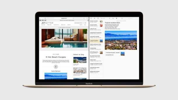 OS X El Capitan - Split View