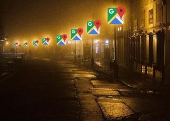 google maps lighting özelliği