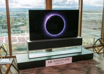 LG kıvrılabilir televizyon
