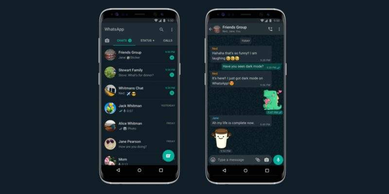 Whatsapp'ta Gece Modu
