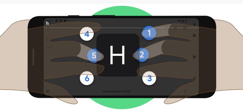 google braille klavye