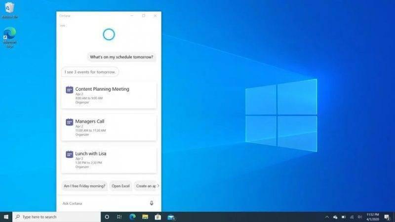 Windows 10 Mayıs 2020 Sürüm 2004 20H1 Güncellemesi inceleme - Yeni Cortana özellikleri