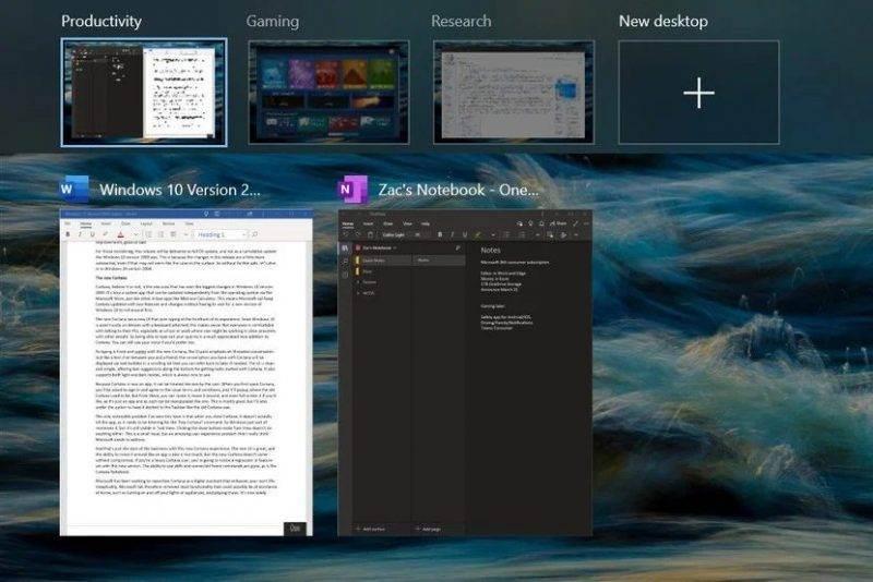 Windows 10 Mayıs 2020 Sürüm 2004 20H1 Güncellemesi inceleme - Sanal Masaüstü özellikleri
