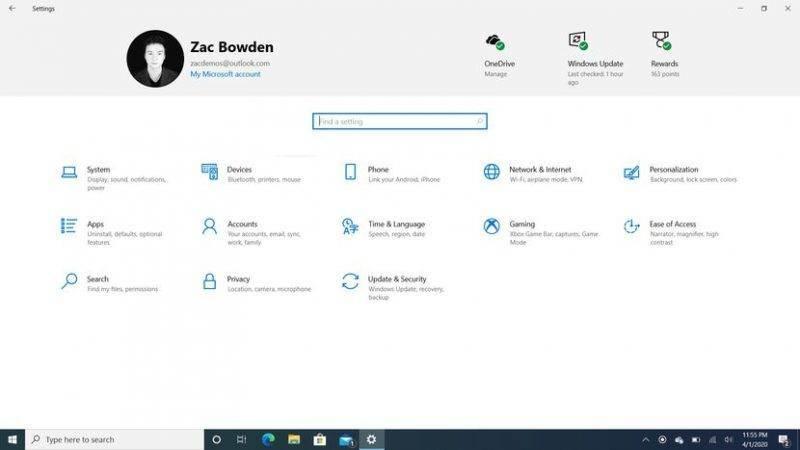 Windows 10 Mayıs 2020 Sürüm 2004 20H1 Güncellemesi inceleme - Ayarlar