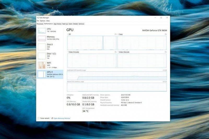 Windows 10 Mayıs 2020 Sürüm 2004 20H1 Güncellemesi inceleme - Görev Yöneticisi
