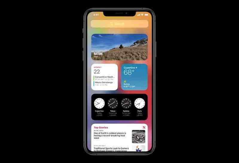 iOS 14 ekran araçları (widget'lar) yine Android'den tanıdık özellikler kazanmış