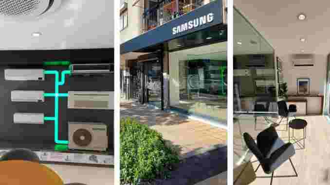 Samsung Türkiye ilk klima mağazası