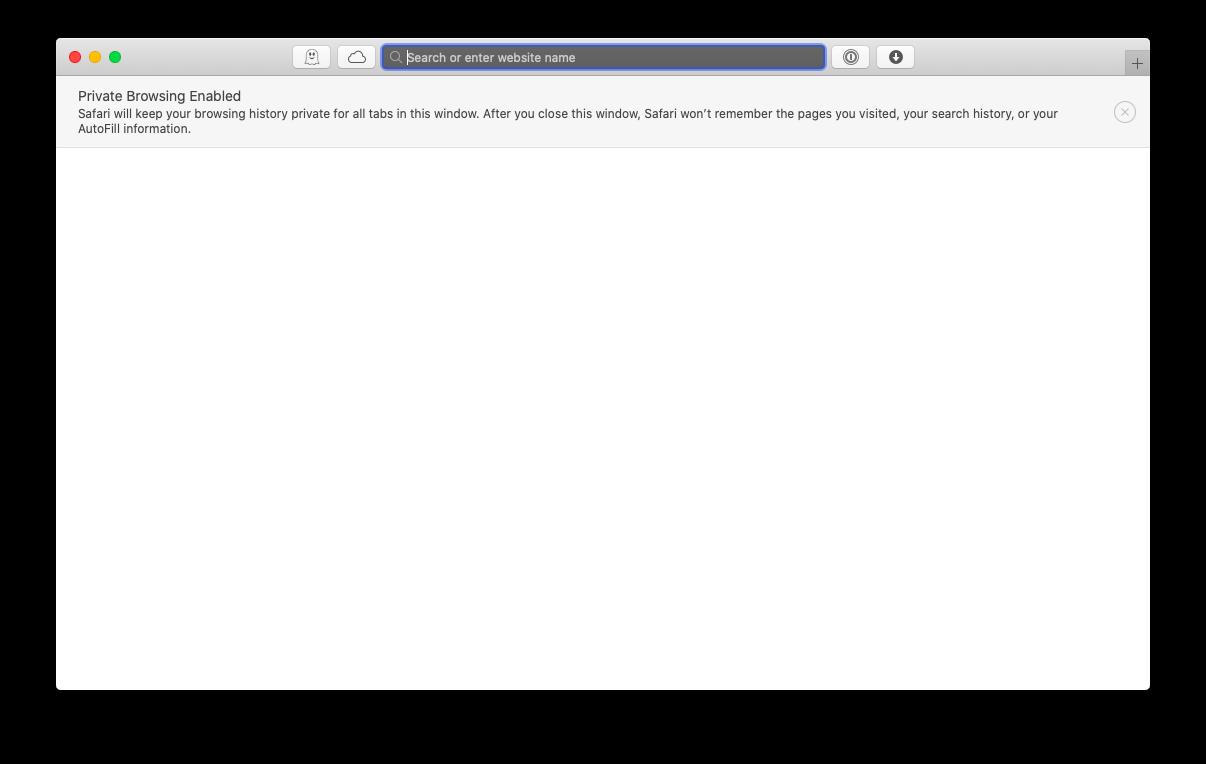 Safari gizli sekme Mac