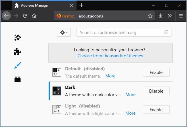 Firefox için karanlık mod etkinleştirme işlemi nasıl yapılır?