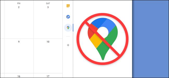 Google Takvim'in haritaları kenarda açmasını durdurma