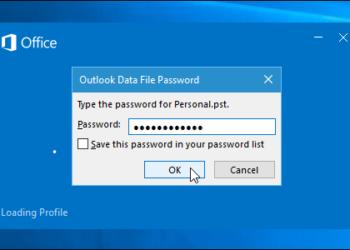 Outlook veri dosyasına şifre ekleme nasıl yapılır
