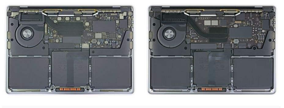 M1 Macbook'ların içi göründü; İşte yenilikler