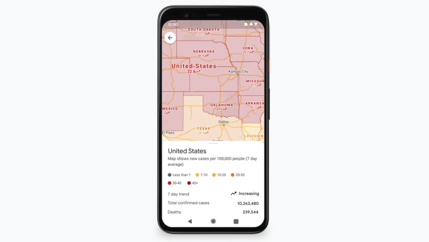 Google Haritalar covid-19 vaka ve toplu taşıma bilgisi verecek