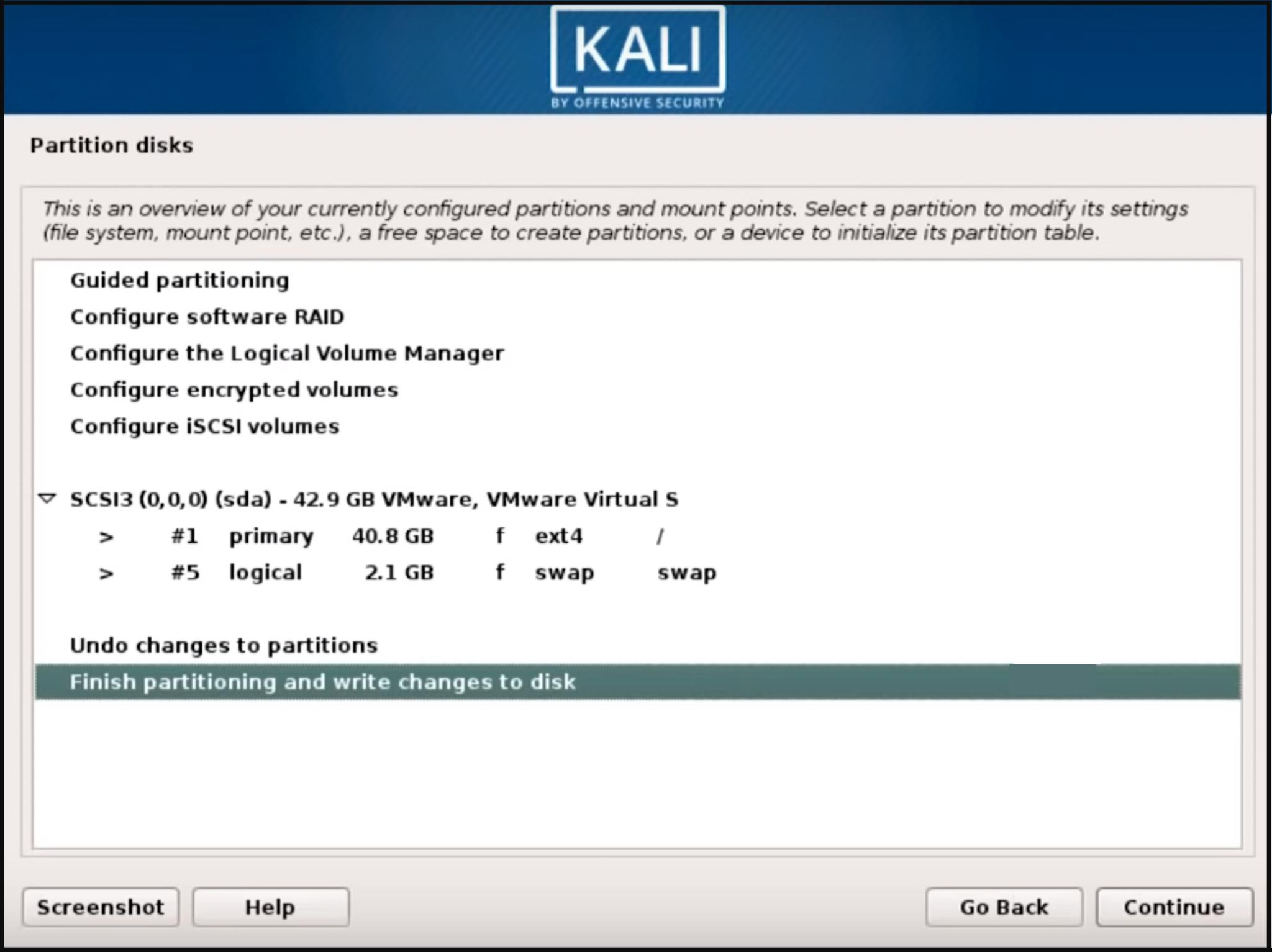Adım adım Kali Linux kurulumu