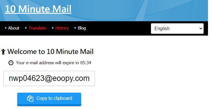 10 dakikalık e-posta hesabı nasıl alınır