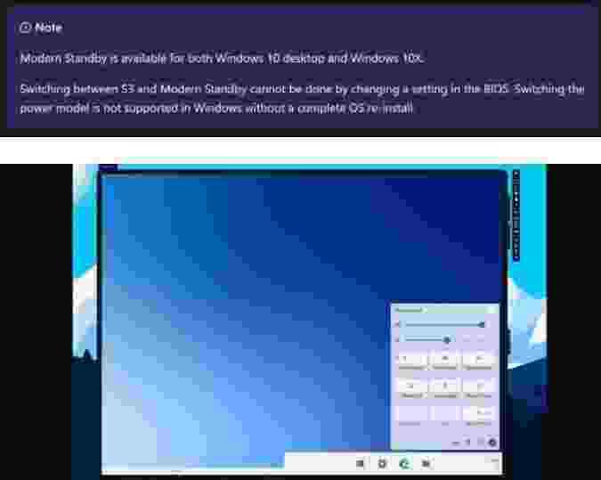 Microsoft Windows 10X, modern bekleme özelliğiyle gelecek