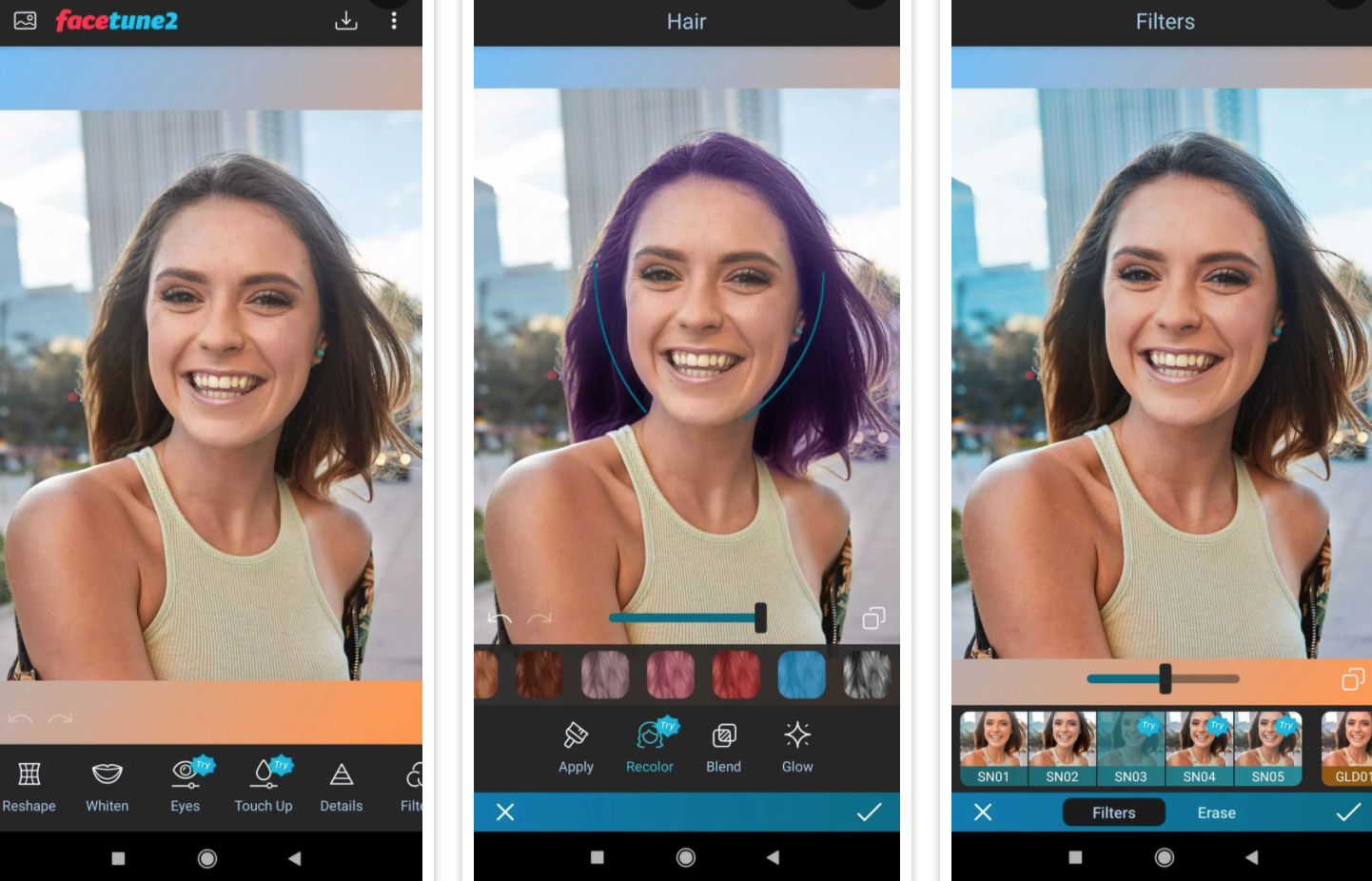 Harika selfie'ler için en iyi yüz filtre ve efekt uygulamaları