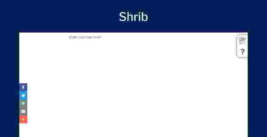 En iyi online notepad uygulamaları: Shrib