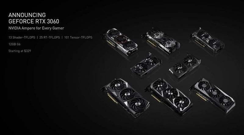 GeForce RTX 3060, Şubat ayı sonunda piyasaya sürülecek
