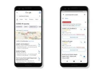 Google ve Google Haritalar, COVID-19 aşı noktalarını gösterecek