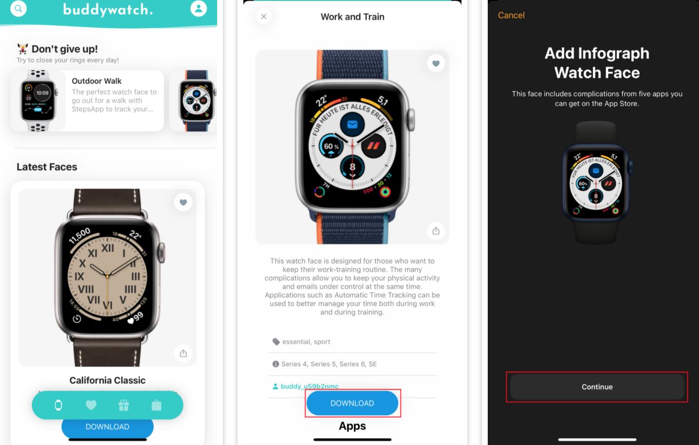 Apple Watch kadran yükleme ve paylaşma uygulamaları