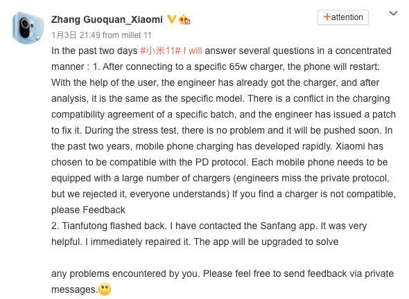 Xiaomi Mi 11 ile ortaya çıkan 65 W GaN şarj aleti problemi çözülüyor