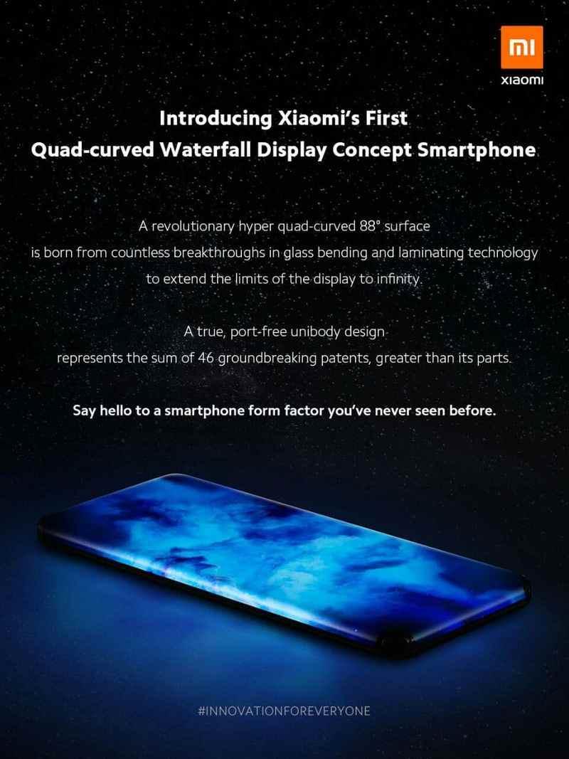 Xiaomi videoda bağlantı noktası olmayan ilk konsept telefonunu sunuyor