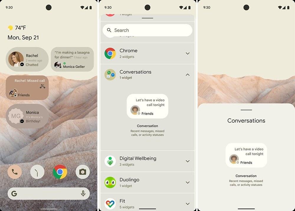 Android 12 tasarımı sızdırıldı, köklü değişiklikler var