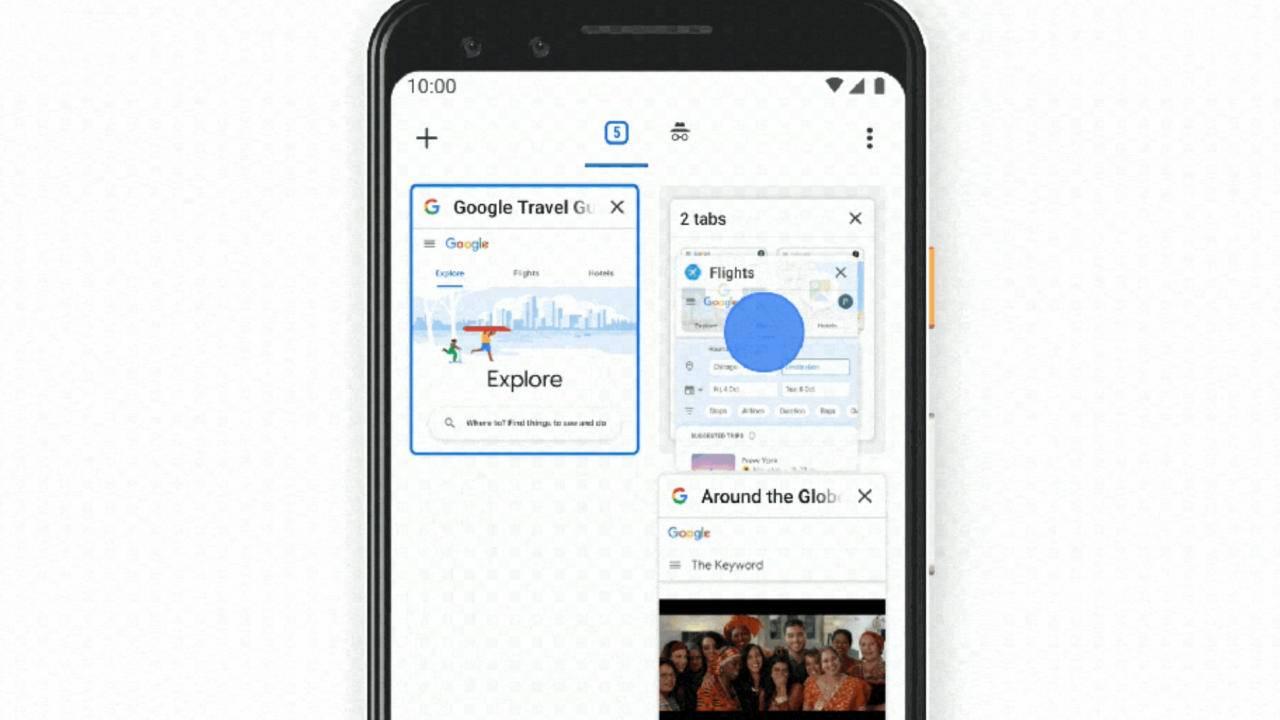 Android için Google Chrome'da Sekme Grupları nasıl devre dışı bırakılır?