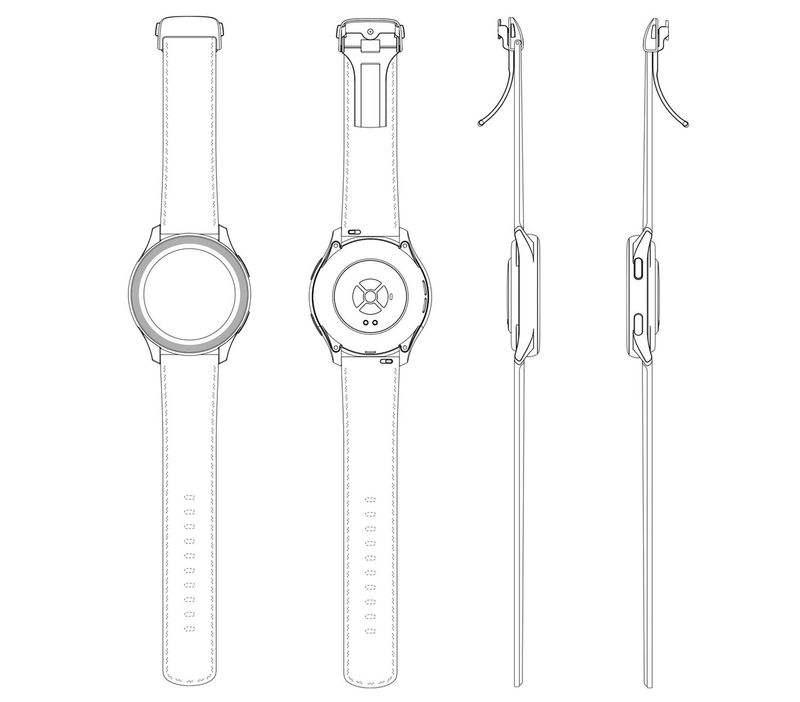 OnePlus akıllı saat tasarımı ortaya çıktı Tescilli patente göre saatin nasıl görüneceği bu.