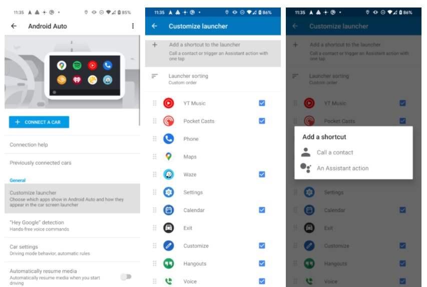 Android Auto'da Google Asistan kısayolları nasıl oluşturulur?