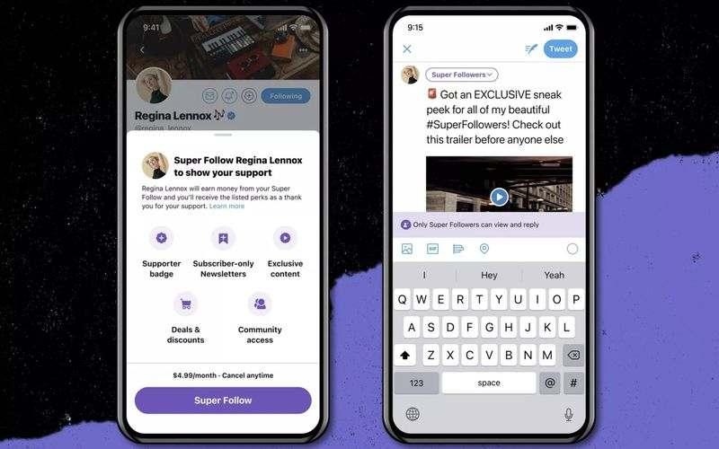 Twitter, kullanıcıların özel içerik için ödeme yaptıkları aylık 5 ABD doları abonelik olan 'Süper Takip'i duyurdu