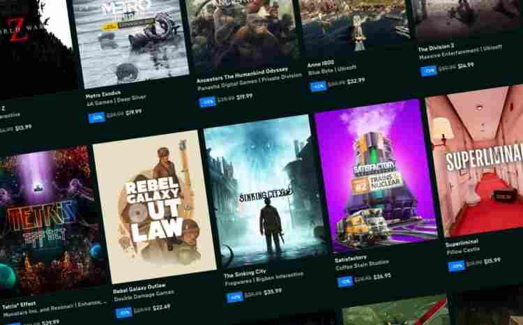 Epic Games, 2020'de 749 milyon adet ücretsiz oyun dağıttı