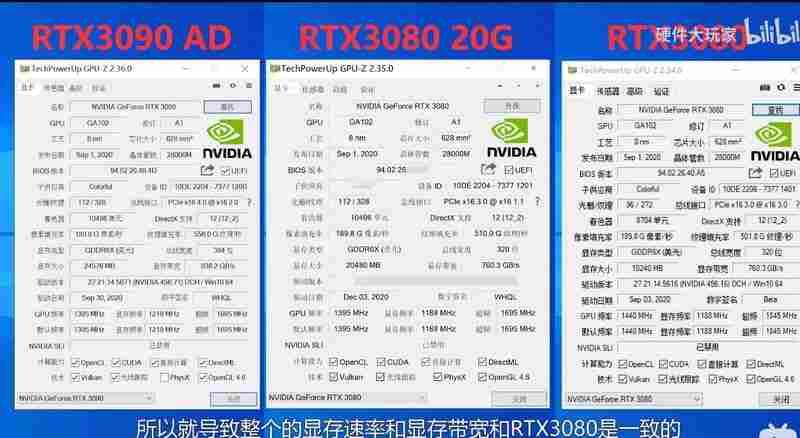 GeForce RTX 3080 Ti 20 GB teknik özellikleri sızdırıldı