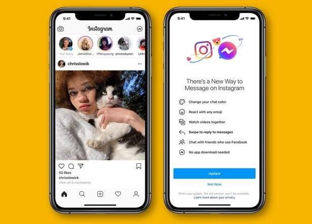 Instagram ve Facebook Messenger kullanıcıları artık bir uygulamadan diğerine mesajlaşabilir ve görüntülü görüşme yapabilir