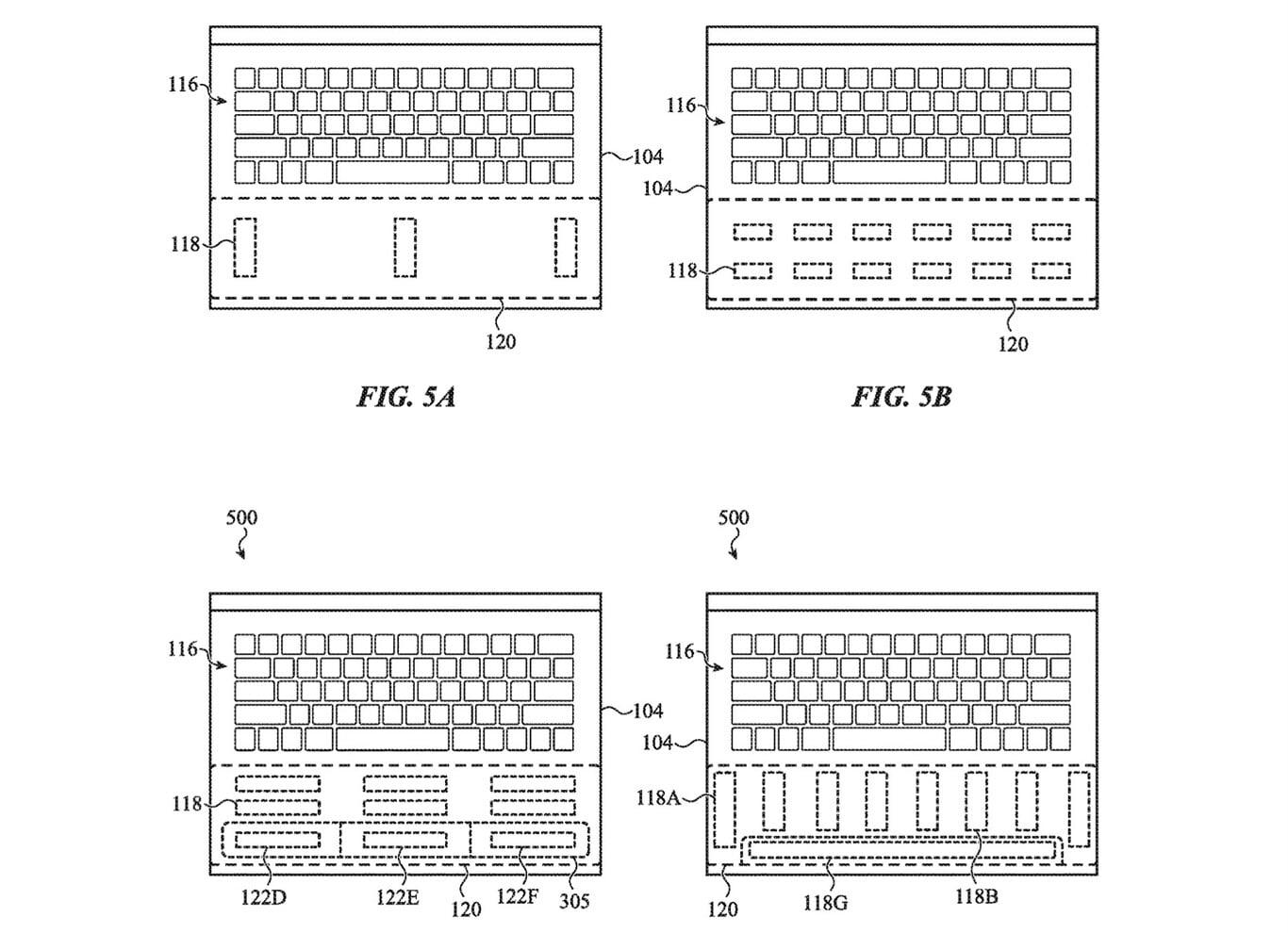 Apple'ın yeni patenti, birden fazla dokunsal alana sahip gelecekteki Macbook tasarımını gösteriyor