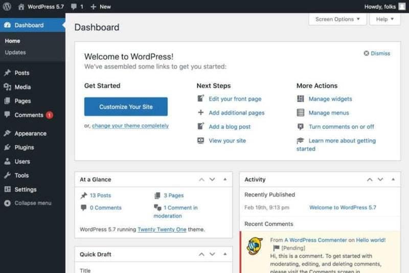 WordPress 5.7, yönetimi kolaylaştırmak için yeni özelliklerle yüklenmiştir