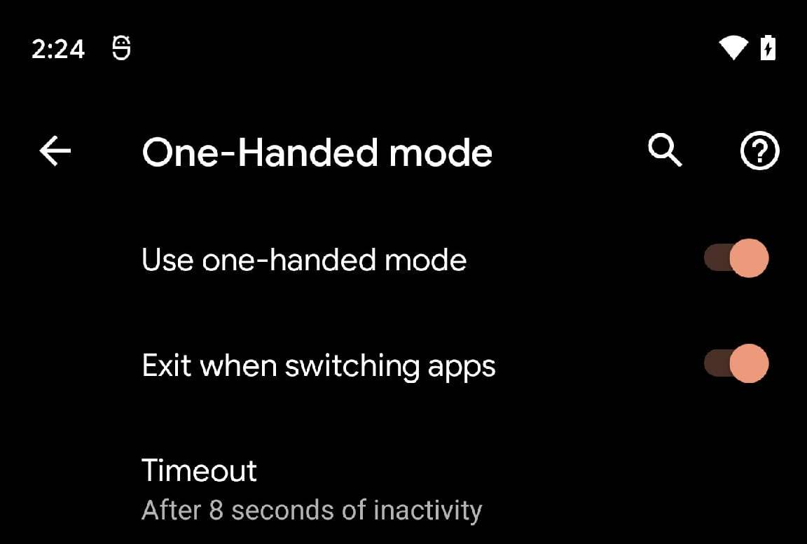Android 12 DP2 nihayet tek elle modu getiriyor