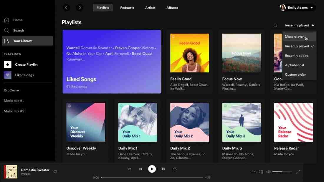 Spotify, masaüstü uygulaması ve web oynatıcı için yeni tasarım sunuyor