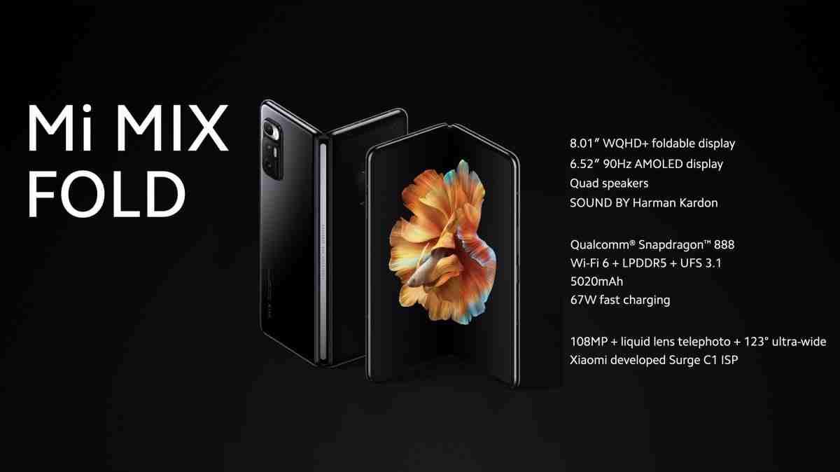 Xiaomi ilk katlanabilir akıllı telefonu Mi Mix Fold'u tanıttı: Özellikler, fiyat ve çıkış tarihi