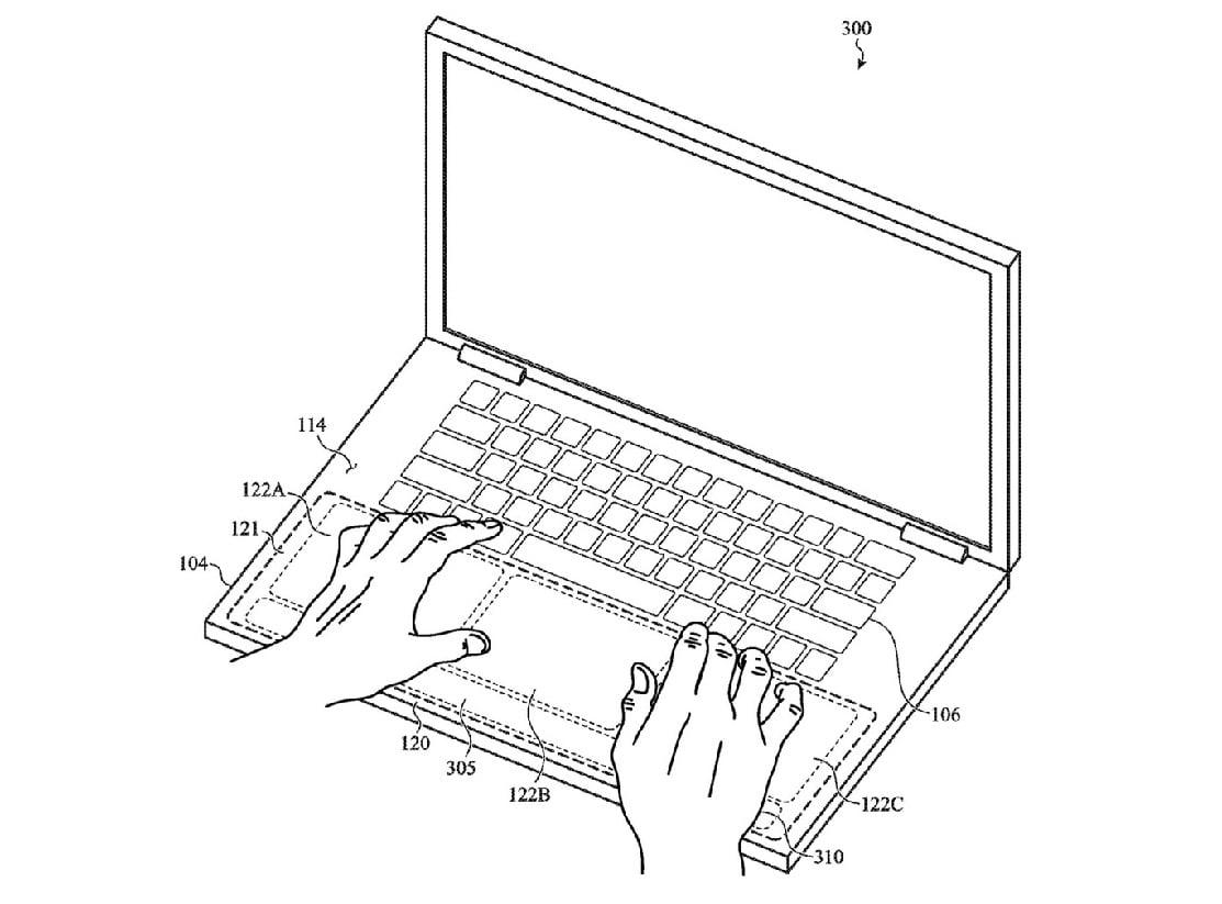 Birden fazla dokunsal alan: Apple'ın yeni patenti gelecekteki Macbook tasarımına dair fikir verdi