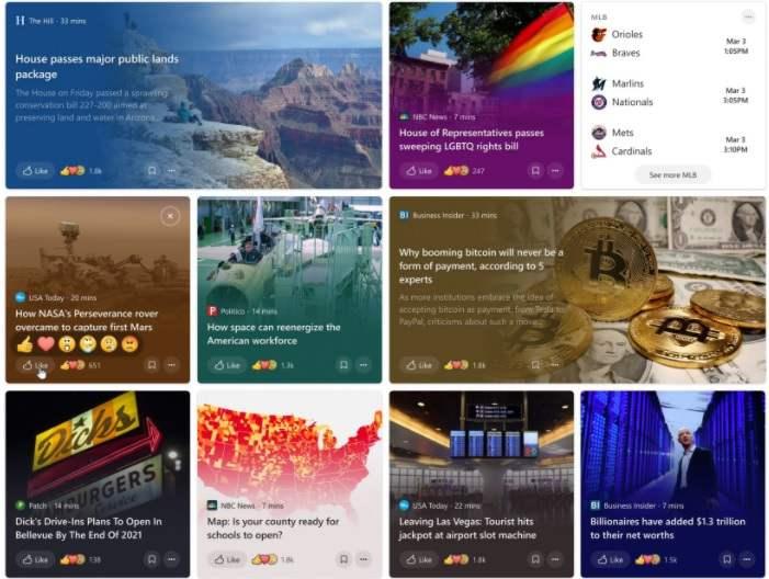 Windows 10 Insider Preview Build 21327: Haberlere ve ilgi alanlarına yönelik bir deneyim