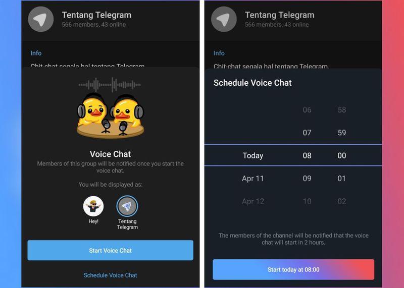 Telegram, şimdilik beta sürümünde kanallarda sesli sohbetler planlamaya izin veriyor
