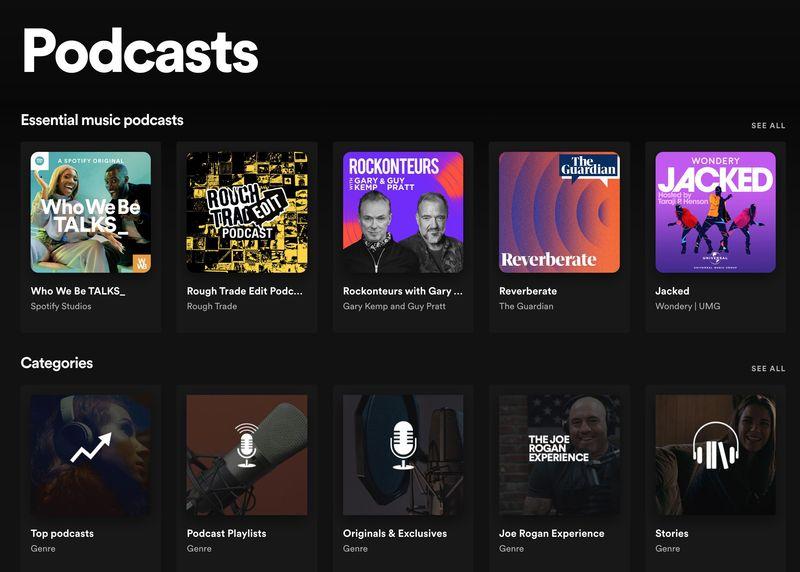 Spotify, yeni çalma listeleriyle podcast yayınlamaya yatırım yapmaya devam ediyor