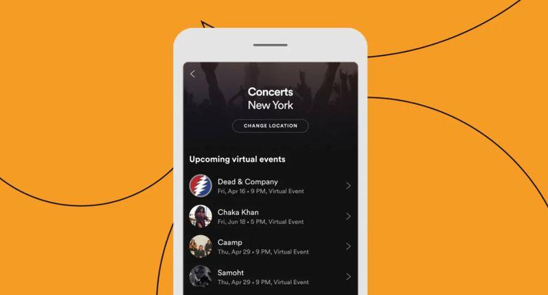 Spotify, sanatçıların sanal etkinliklerine ayak uydurmayı kolaylaştırır