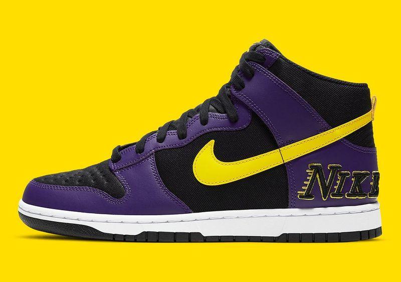 Nike Lakers Dunk High, 80'lerin logosuyla yeniden canlanıyor