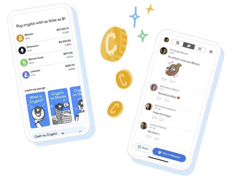 Paypal'ın iştiraki Venmo, kripto para birimlerinin kullanımına da izin vermeye başladı.