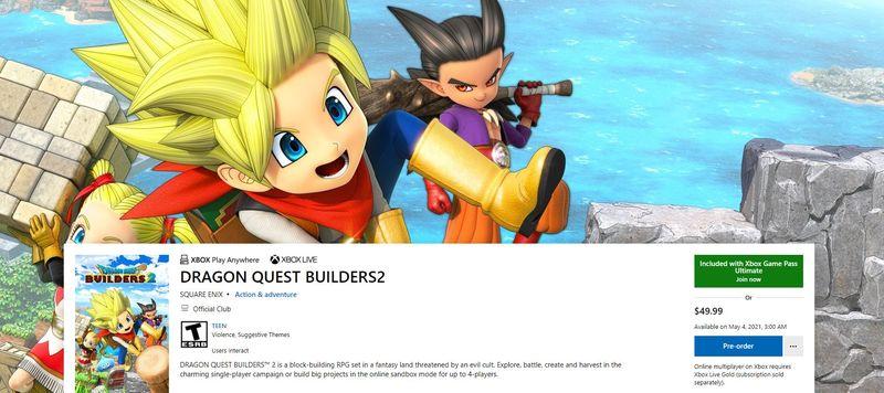 Microsoft, 4 Mayıs'ta Xbox ve PC Game Pass'e gelecek olan Dragon Quest Builders 2