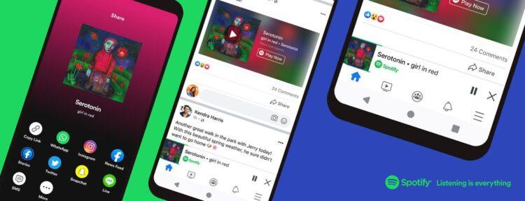Facebook entegre bir Spotify oynatıcı sunuyor: Sosyal ağdan ayrılmadan müzik dinleyebileceksiniz